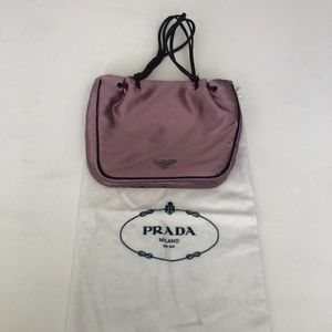 Prada Purple Satin Small Wristlet Purse